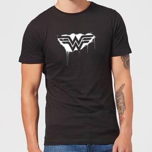 Justice League Graffiti Wonder Woman Men's T-Shirt - Black