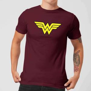 Justice League Wonder Woman Logo Men's T-Shirt - Burgundy