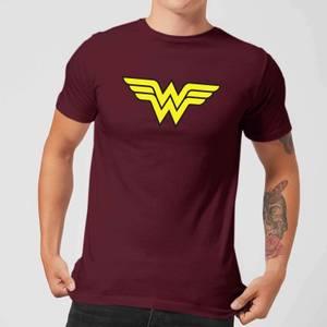 Justice League Wonder Woman Logo Men's T-Shirt - Burgundy