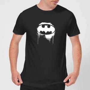 Justice League Graffiti Batman Men's T-Shirt - Black