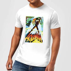 Justice League Aquaman Cover Men's T-Shirt - White