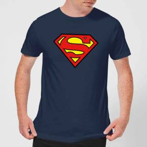 Justice League Superman Logo Men's T-Shirt - Navy