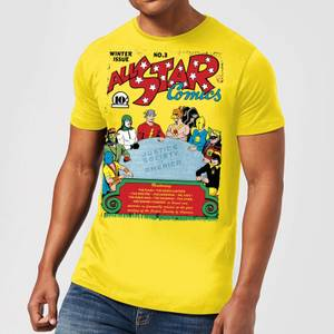 Justice League All Star Comics Cover Men's T-Shirt - Yellow
