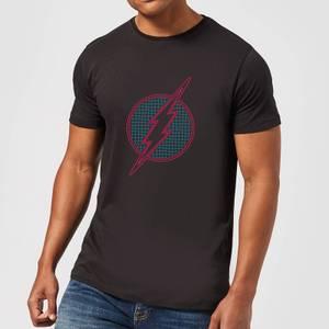 Justice League Flash Retro Grid Logo Men's T-Shirt - Black