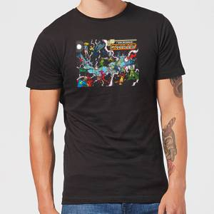 Justice League Crisis On Infinite Earths Cover Men's T-Shirt - Black