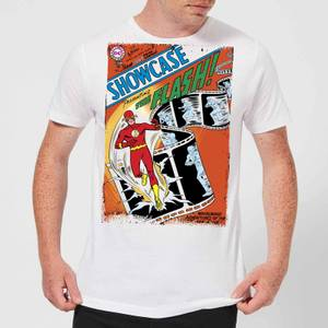 Justice League Showcase Presenting The Flash Cover Men's T-Shirt - White
