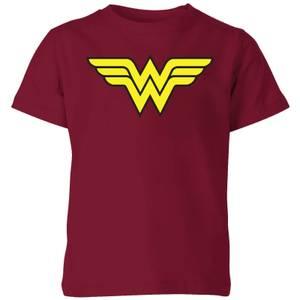 Justice League Wonder Woman Logo Kids' T-Shirt - Burgundy