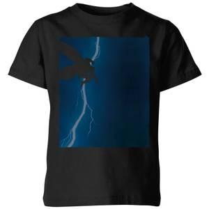 Batman The Dark Knight Returns Cover Kids' T-Shirt - Black