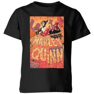Batman Harley Quinn Cover Kids' T-Shirt - Black