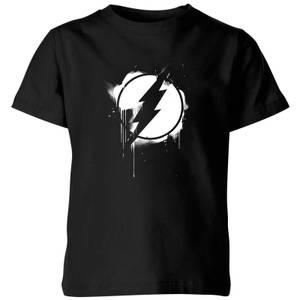 Justice League Graffiti The Flash Kids' T-Shirt - Black
