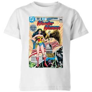 Justice League Wonder Woman Cover Kids' T-Shirt - White