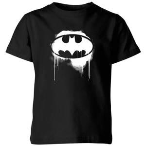 Justice League Graffiti Batman Kids' T-Shirt - Black