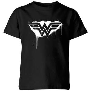 Justice League Graffiti Wonder Woman Kids' T-Shirt - Black