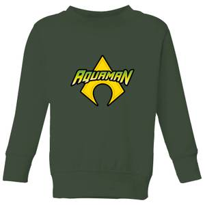 Justice League Aquaman Logo Kids' Sweatshirt - Forest Green