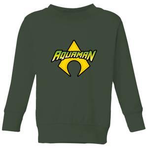 Justice League Aquaman Logo Kids' Sweatshirt - Forest Green