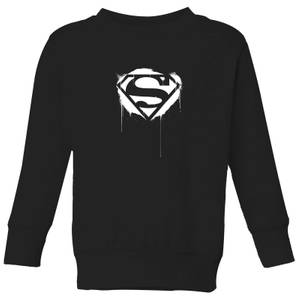 Justice League Graffiti Superman Kids' Sweatshirt - Black