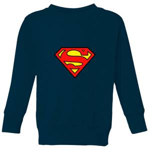 Justice League Superman Logo Kids' Sweatshirt - Navy