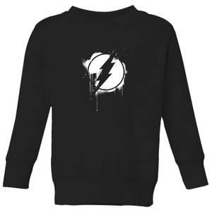 Justice League Graffiti The Flash Kids' Sweatshirt - Black