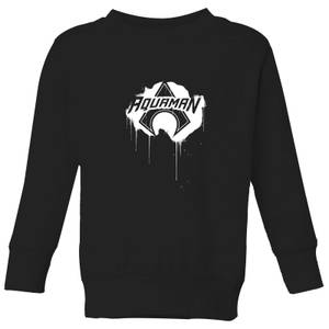 Justice League Graffiti Aquaman Kids' Sweatshirt - Black