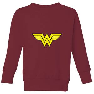 Justice League Wonder Woman Logo Kids' Sweatshirt - Burgundy