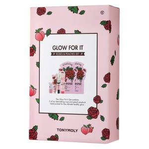 TONYMOLY Glow For It - Peaches and Roses Set (Worth $44)