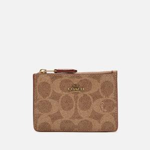 Coach Women's Colourblock Signature Mini ID Skinny - Tan Rust