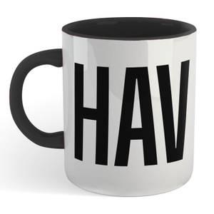 Chav Mug - White/Black