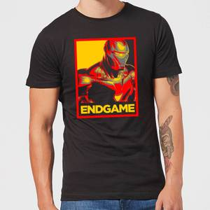 Avengers Endgame Iron Man Poster Men's T-Shirt - Black