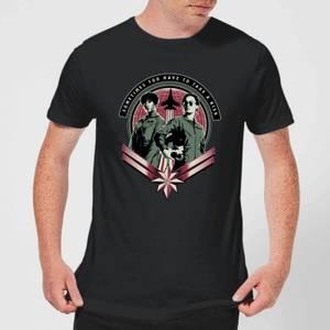 Captain Marvel Take A Risk Men's T-Shirt - Black