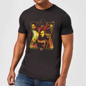 Avengers Endgame Distressed Sunburst Men's T-Shirt - Black