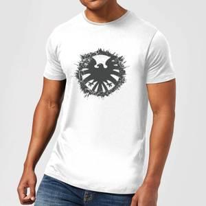 Marvel Avengers Agent Of SHIELD Logo Brushed Men's T-Shirt - White