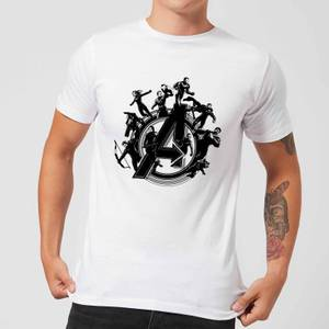 Avengers: Endgame Hero Circle heren t-shirt - Wit