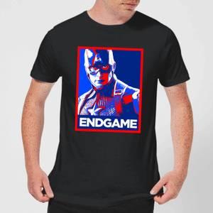 T-Shirt Avengers Endgame Captain America Poster - Nero - Uomo