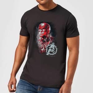T-shirt Avengers Endgame Captain America Brushed - Homme - Noir