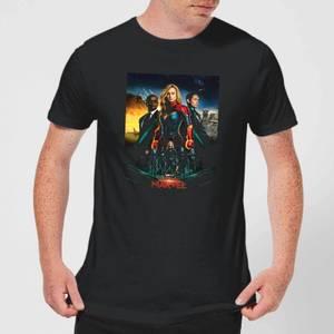 Captain Marvel Movie Starforce Poster Men's T-Shirt - Black