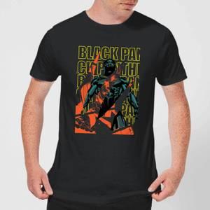 Marvel Avengers Black Panther Collage Men's T-Shirt - Black