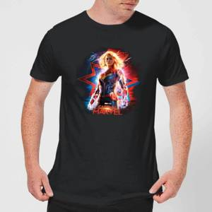 Captain Marvel Poster Men's T-Shirt - Black