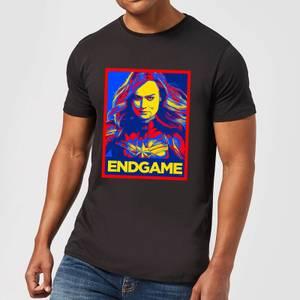 Avengers Endgame Captain Marvel Poster Men's T-Shirt - Black