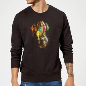 Avengers Endgame Infinity Gauntlet Warlord Sweatshirt - Black