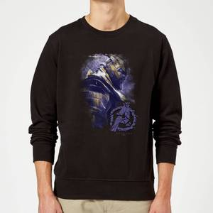 Avengers Endgame Thanos Brushed Sweatshirt - Black