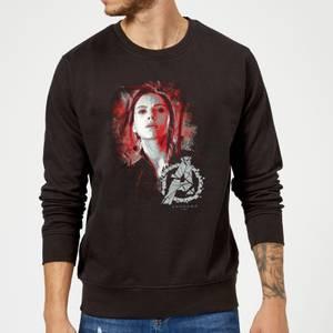 Avengers Endgame Black Widow Brushed Sweatshirt - Black