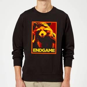 Avengers Endgame Rocket Poster Sweatshirt - Black