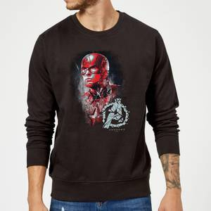 Sweat-shirt Avengers Endgame Captain America Brushed Homme - Noir