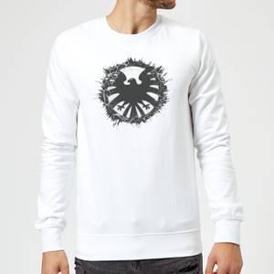 Marvel Avengers Agent Of SHIELD Logo Brushed Sweatshirt - White