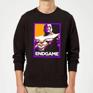 Felpa Avengers Endgame Thanos Poster - Nero