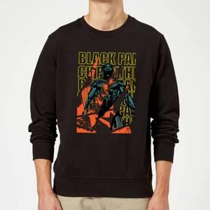 Marvel Avengers Black Panther Collage Sweatshirt - Black