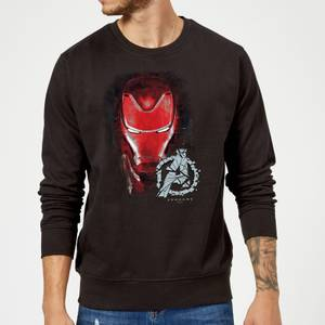Avengers Endgame Iron Man Brushed Sweatshirt - Black