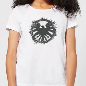 Marvel Avengers Agents of SHIELD Logo Brushed dames t-shirt - Wit