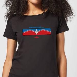 Captain Marvel Sending Women's T-Shirt - Black