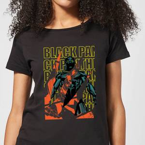 Marvel Avengers Black Panther Collage Women's T-Shirt - Black